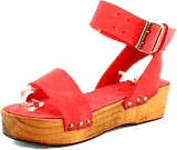 Minimarket - Plateau Buckles Sandal Leather Bright Pink