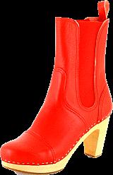 Swedish Hasbeens - Cilla Chelsea Boot Red