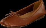 Clarks - Freckle Ice Dark Tan Leather