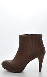 Mentor - Interlaced Ankle Boot D. Brown