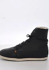 Hub Footwear - Song Leather/Wool Black