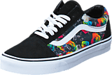 Vans - Old Skool (Rainbow Floral) Black/White