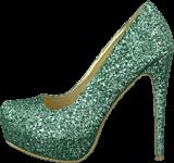 Sugarfree Shoes - Siri Glitter Mint green glitter