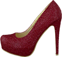 Sugarfree Shoes - Siri Glitter Red glitter