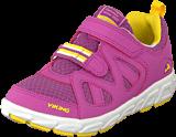 Viking - Riptide Velcro Dark Pink/Yellow
