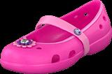 Crocs - Keeley Flower Flat Girls Charm Neon Magenta/Carnation