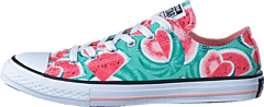 Converse - Chuck Taylor All Star Ox Vapor Pink/ Green Glow/ White