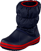 Crocs - Winter Puff Boot Kids Navy-Red
