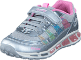 Geox - J Shuttle Girl Silver/Multicolor