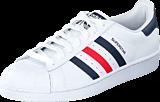 adidas Originals - Superstar Foundation Ftwr White/Collegiate Navy/Red
