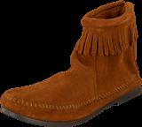 Minnetonka - Back Zipper Boot Brown