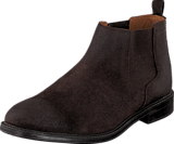 Clarks - Chilver Top Dark Brown Suede