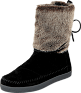 Toms - Nepal boot Black suede faux hair