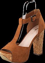 Bianco - T-bar sandal DJF 16 Light Brown