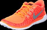 Nike - Wmns Nike Free 5.0 Print Hyper Orange/Black-Sail-White