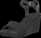 Crocs - Leigh II Ankle Strap Wedge W Black/Black