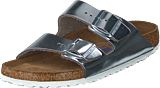 Birkenstock - Arizona Smooth Leather Silver Metallic