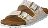 Birkenstock - Arizona Slim Birko-Flor Shiny Snake Cream