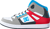 DC Shoes - Dc Kids Rebound Shoe Grey/Grey/Red
