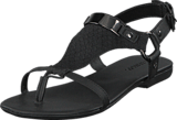 Bianco - Graphic Suede Sandal Black