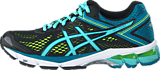 Asics - GT-1000 4 Black/Pool Blue/Yellow