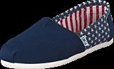 Toms - Wmn's Seasonal Classics Americana Navy Stars