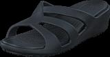 Crocs - Sanrah Strappy Wedge Black/Black