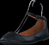 Bianco - Ankle Strap Ballerina Black