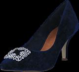 Bianco - Velvet Brooch Shoe OND17 30 Navy Blue