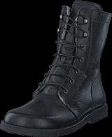 Angulus - Lace-up boot w. zipper Black
