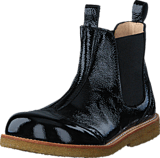 Angulus - Chelsea boot stitched detail 1310/001 Black/Black