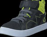 Footi - Hornfels Black/Lime