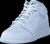 Nike - Air Jordan 1 Mid (gs) Shoe White Black White