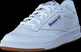 Reebok Classic - Club C 85 Int-White/Royal-Gum