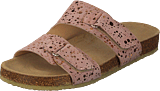 Angulus - Footbed Sandal With Velcro Black W. Black Dot