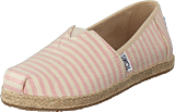 Toms - Alpargata Youth Blossom Woven Stripe Rope Sole